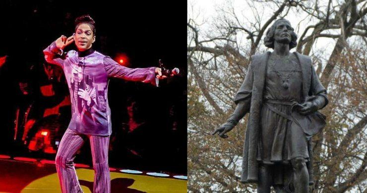 Ζητούν να αντικατασταθεί το άγαλμα του Κολόμβου με του Prince